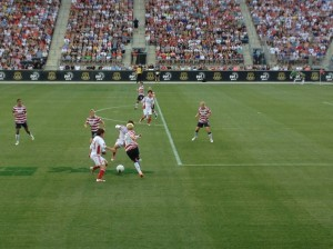M. Rapinoe on defense. 27 May 2012